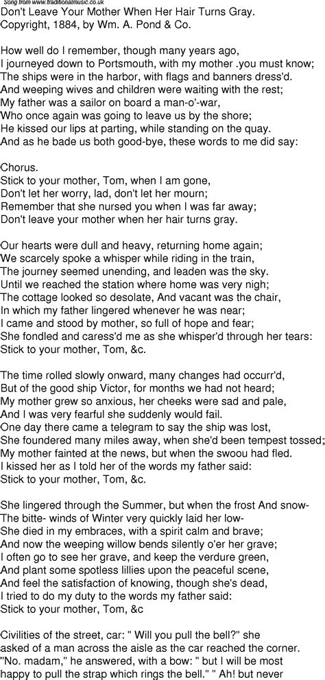 time song lyrics   dont leave  mother