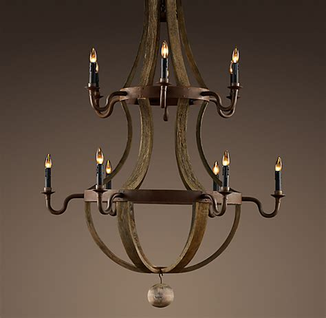 Two Tier Chandelier by Wine Barrel 2 Tier Chandelier