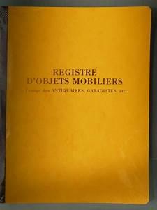 Registre De Police : livre de police registre d 39 objets mobiliers 80 pages ~ Medecine-chirurgie-esthetiques.com Avis de Voitures
