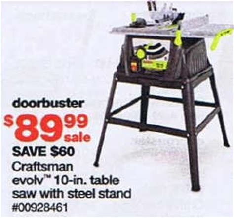 black friday table saw black friday deal craftsman evolv 10 in table saw with