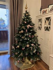 Weihnachtsbaum Pink Geschmückt : weihnachten 2018 weihnachtsbaum rosa gold edel glitzer selber geschm ckt x mas es ~ Orissabook.com Haus und Dekorationen