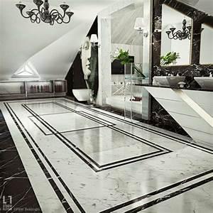 Salle De Bain Marbre Blanc : salle de bain de luxe de design opulent et exotique ~ Nature-et-papiers.com Idées de Décoration