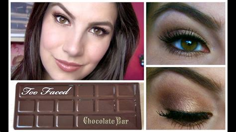 faced chocolate bar palette tutorial youtube