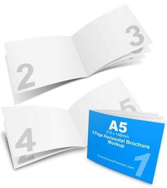 4 Panel A4 Roll Fold Brochure Mockup Cover Actions 4 Panel A4 Roll Fold Brochure Mockup Cover Actions Premium