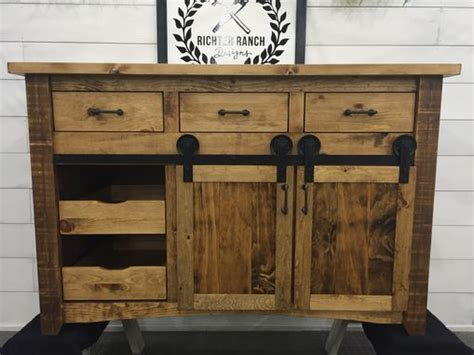 hand crafted rustic kitchen island  richter ranch