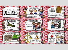 Fabulosos diseños de las efemérides de febrero Educación