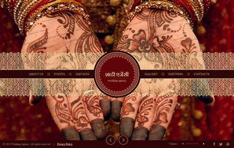 Indian Wedding Agency Html5 Template 300111725 On Behance