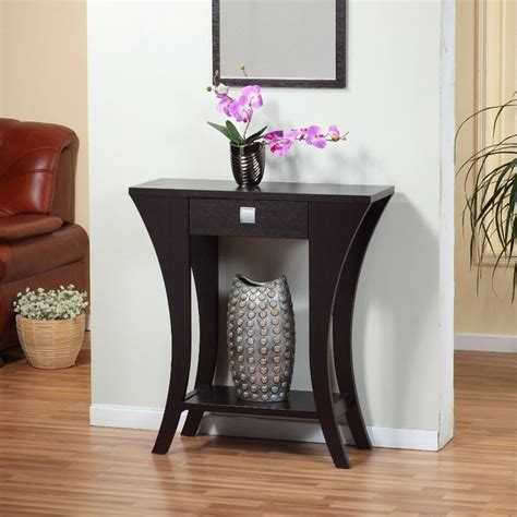 modern console table for entryway foyer entry table console sofa drawer curved wood modern