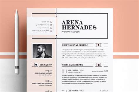 Artsy Resume Templates by Resume Templates Creative Market