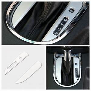 2018 Interior Accessories For Ford Mustang 2015 2016 ABS Silver Gear Shift Panel Decoration ...