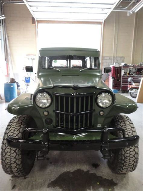 willys jeep truck green willys jeep station wagon green military black accents