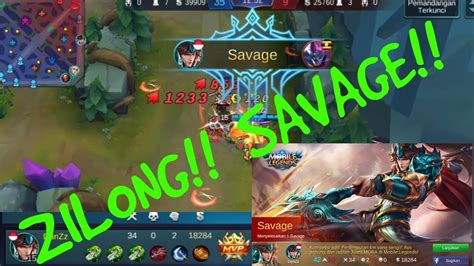 Zilong!! Savage!!! Mobile Legends Indo!! Gameplay#9