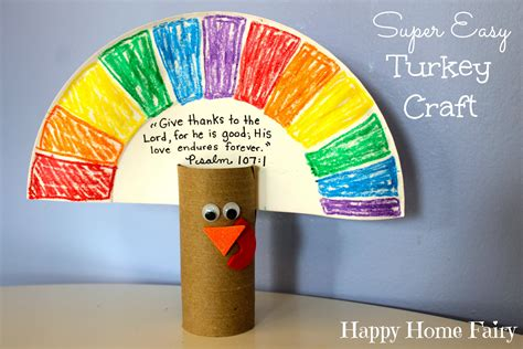 simple paper turkey craft easy turkey craft happy home 5430