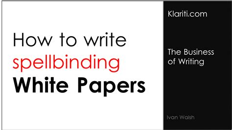 white papers   write  titles
