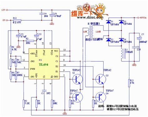 the 12v inverter circuit diagram for car automotive
