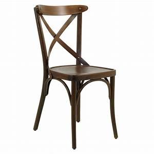 Chaise Bistrot Bois : chaise bistrot en bois couleur chene moyen czh x77 cf gd office ~ Teatrodelosmanantiales.com Idées de Décoration