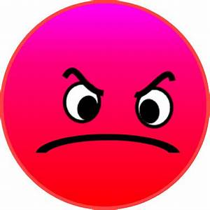 red face angry mad PDplus 7cm | This clipart drawing has ...