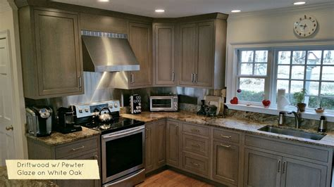 kitchen cabinet colors  driftwood grey stains