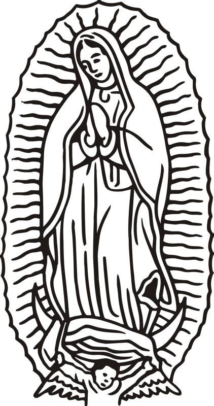 De Virgen And Black White Drawings Guadalupe