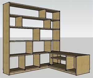 Meubles Tv D Angle : plan bibliotheque meuble tv d 39 angle par billbaroud sur l 39 air du bois ~ Melissatoandfro.com Idées de Décoration