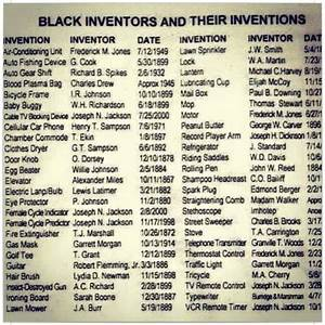 Harlem Renaissance Chart Black Inventors And Their Inventions Armed With