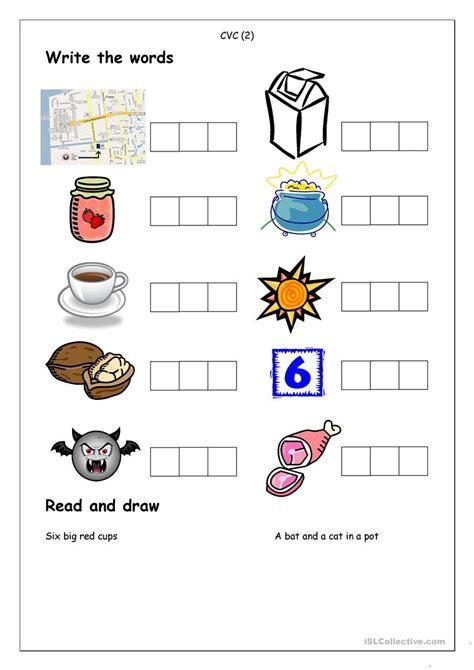 phonics spelling cvc 2 worksheet free esl printable