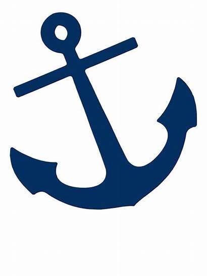 Anchor Navy Coral Stickers Designs Nautical Studio