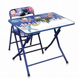 Ensemble Chaise Et Table : table et chaise super h ros bleu pour les enfants ~ Dailycaller-alerts.com Idées de Décoration