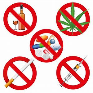 No Drugs, Smoking And Alcohol Stock Vector - Illustration ...