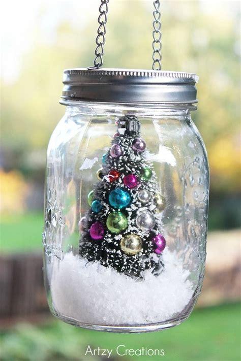 diy  minute mason jar christmas decoration