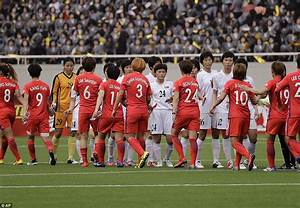 North and South Korea women face off in football match ...