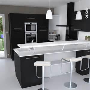 cuisine noire porte effet soft touch ginko noir mat bar