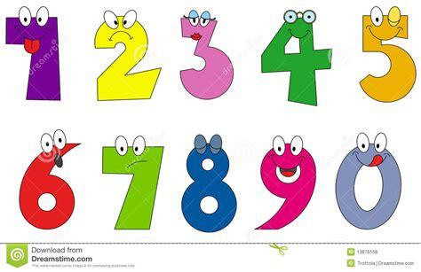 numeri clipart stile divertente catoon di numeri fotografie stock