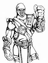 Mortal Kombat Coloring Printable Boys Entitlementtrap Excellent Games Zero Sub Shining Inspiration Clipartmag Drawings sketch template