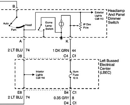 Light Switch Diagram Gm by Gm Dash Lights Broken Thanks Headlight Dimmer Switch