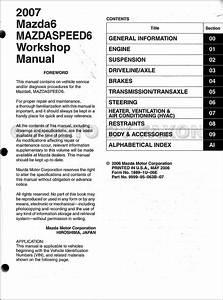2007 Mazda6 Repair Shop Manual Original