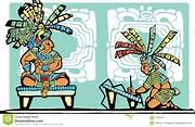 Mayan King and Scribe stock vector. Illustration of scribe ...