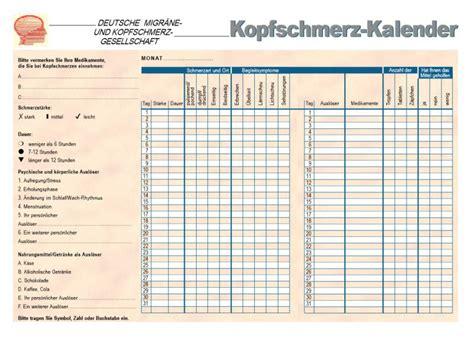 kopfschmerzkalender  freewarede