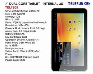 Telefunken TEL73GI 7.0in 3G Dual SIM Android Tablet ...