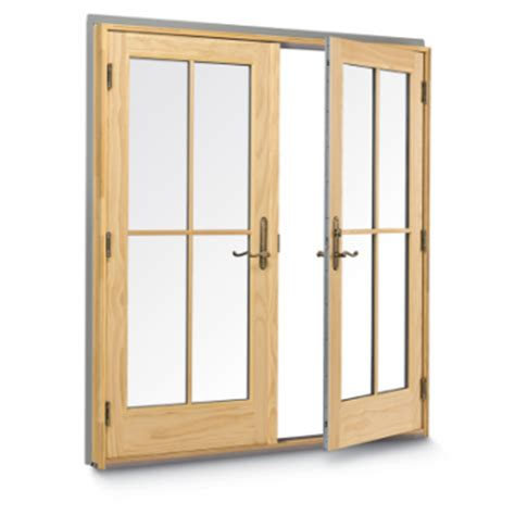 andersen 400 series frenchwood 2 panel inswing patio door