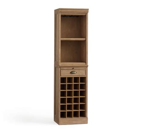 Modular Bar With Cabinet Tower by Modular Cabinet Open Hutch Bar Tower Mahogany Pottery