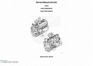 Cummins Engine Qsk19 Cm850  Cm2150 Mcrs Service Manual