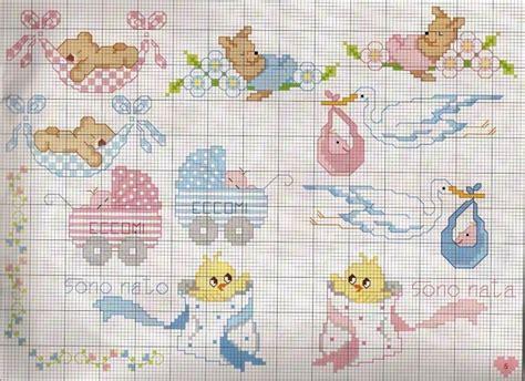lettere a punto croce per bavaglini schemi punto croce bambini bavaglini