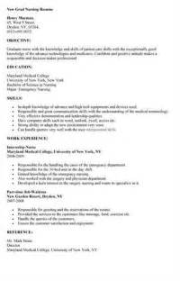 resume for a new registered new rn resume help no work experience allnurses