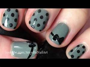 Cute polka dot designs for short nails could even do white with black