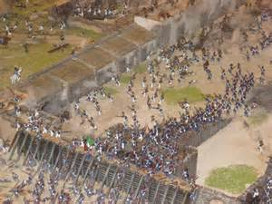 Model of the Alamo Battle Diorama
