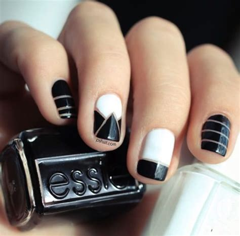 black nail designs 50 black and white nail designs