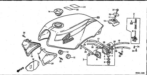 west coast motorcycles vt250f 1983 fuel tank