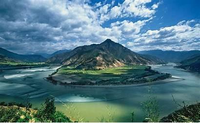 River Yangtze China Mountain Emei