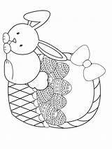 Easter Basket Coloring Pages Printable Baskets Colouring Colors sketch template
